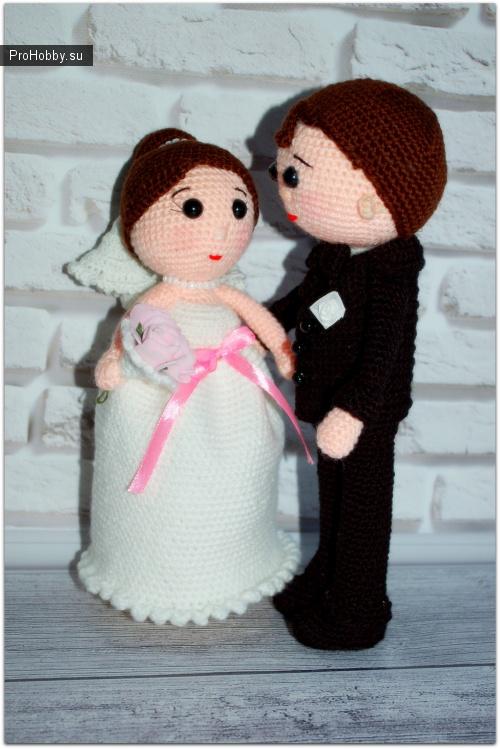 162Как связать жениха и невесту крючком