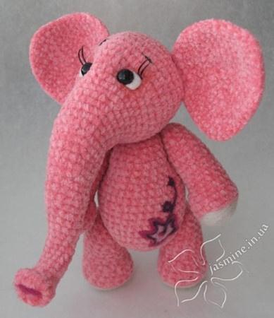 Розовая слоняша от Янины Камышан