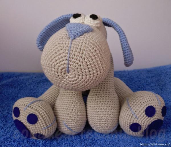 Вязание крючком собачки
