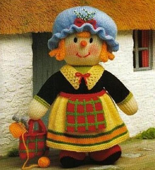 Вяжем спицами игрушку Матушка Мораг