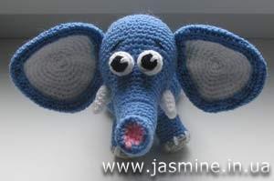 Вяжем крючком игрушку Слонёнка от Янины