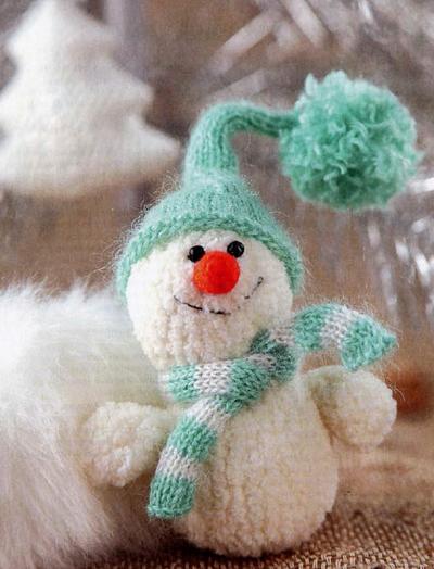 Вяжем снеговика-весельчака