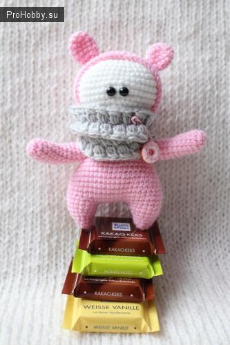 Розовая козявка. Схема вязания