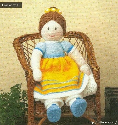 Вязаная кукла Джемайма-Джейн