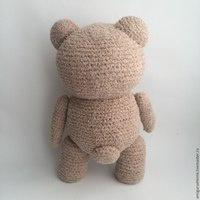 Бежевый медвежонок крючком