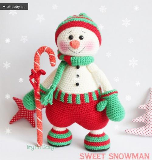 Вяжем снеговика Гномуса