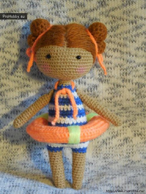 Вязаная кукла-морячка Елены Кочеровой