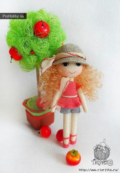 Вязаная куколка Людмилы Мещеряковой