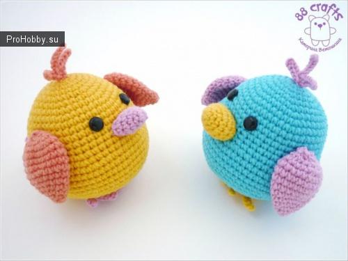 Маленькие птички крючком