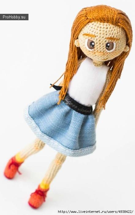 Новогодняя Девочка. Каркасная Кукла