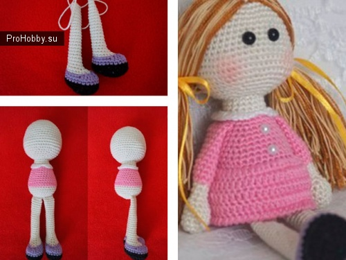 Кукла амигуруми крючком