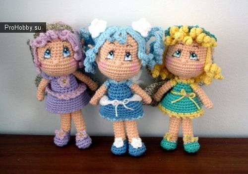 Куклы-феи крючком