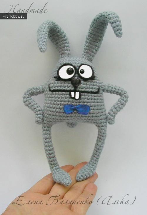 Вяжем крючком игрушку Заяц Бо