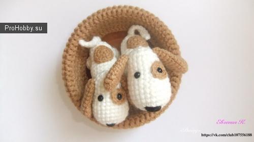 Маленькие собачки амигуруми