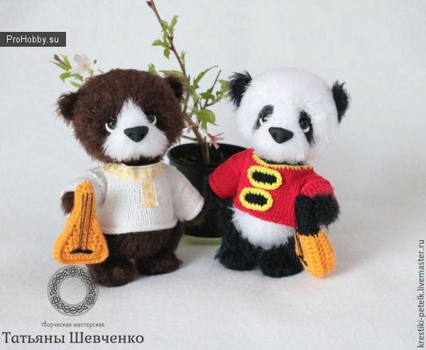 Медвежонок панда крючком