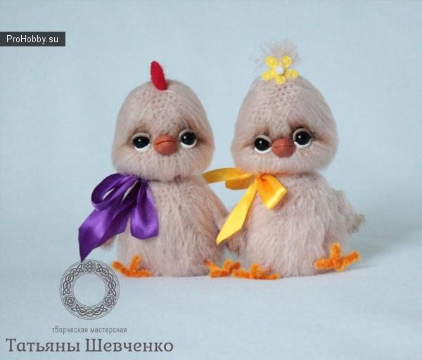 Вязаные цыплята