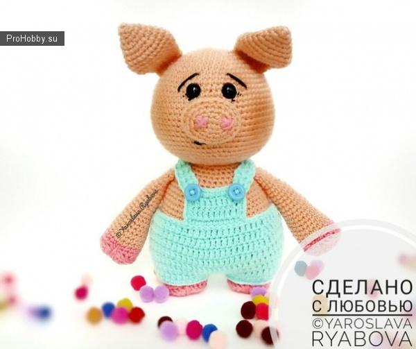 Милые вязаные свинки