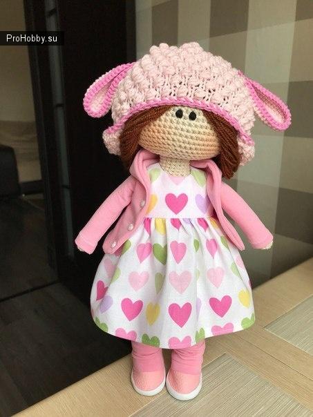 Шапочка «Барашка» для куклы