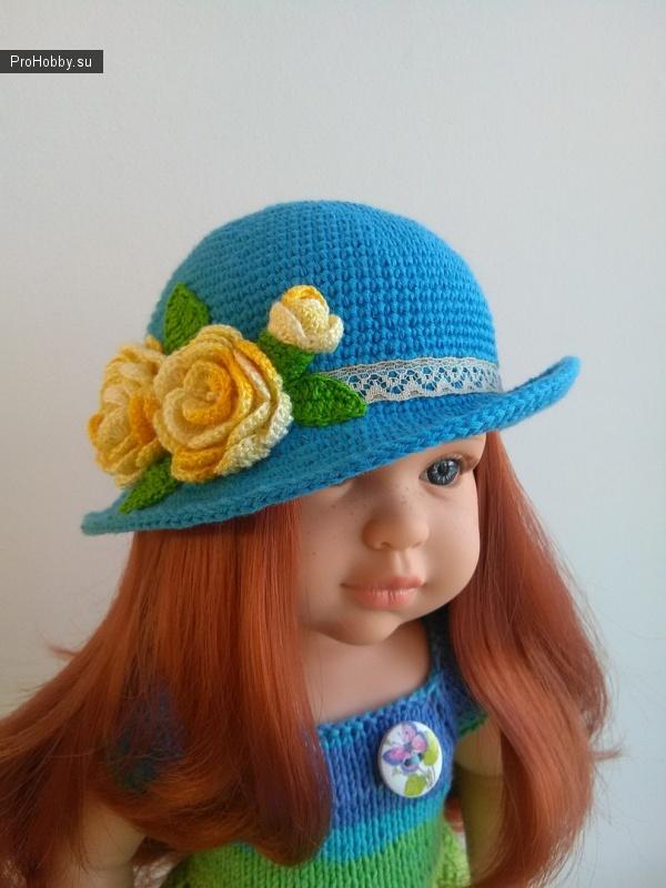 Шляпка на куклу Сой Ту Паола Рейна