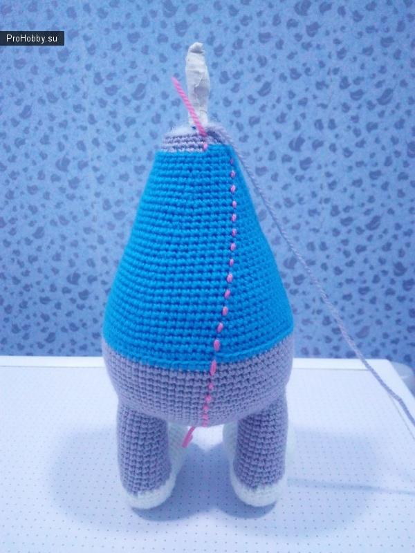 Игрушка-заяц Степа крючком от Марии Ломковой