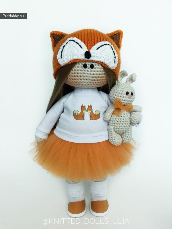 Шапочка «Лиса» для куклы