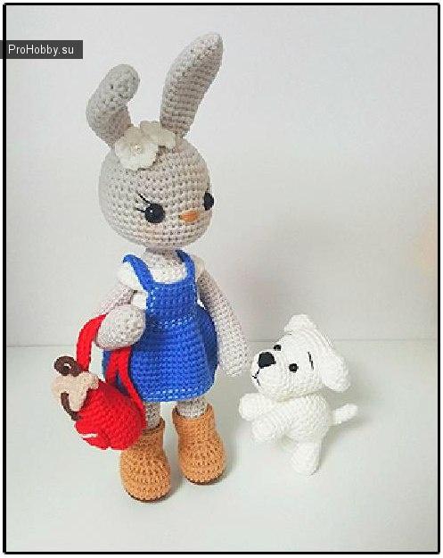 Заяц и собачка крючком