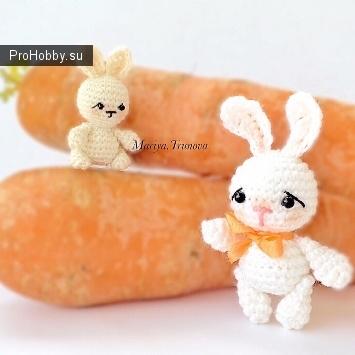 Крошечные зайчики крючком