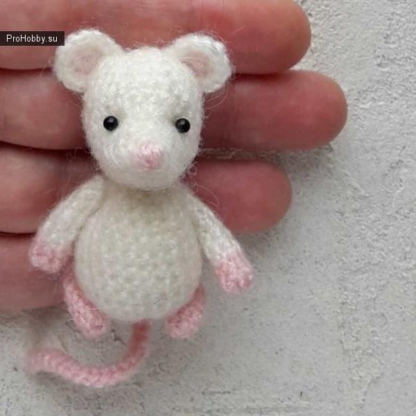 Амигуруми Мышка крючком