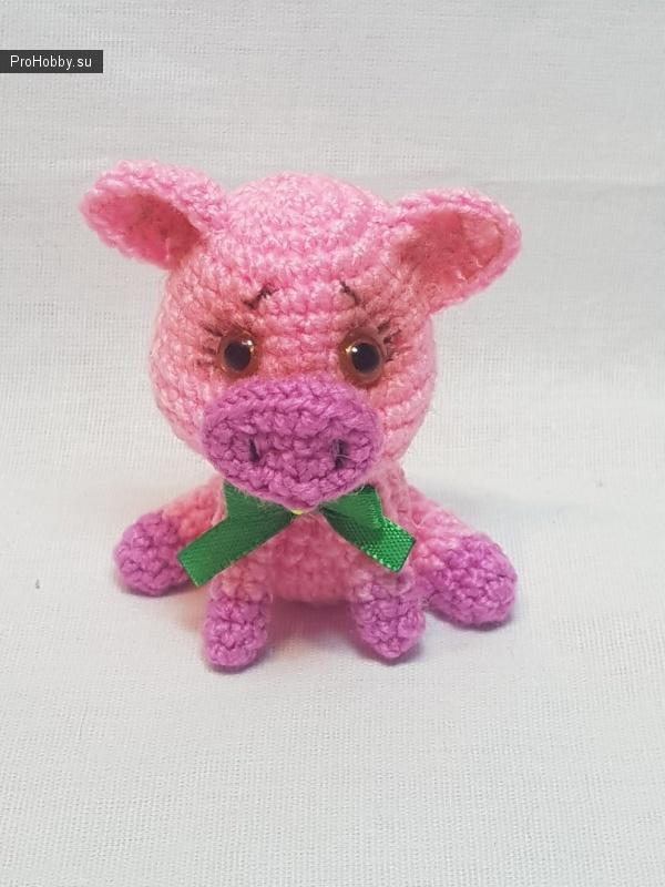 Свинка амигуруми крючком