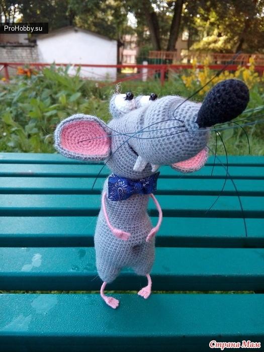 Игрушка крыс Яша крючком