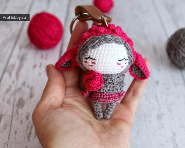 Кукла-овечка крючком