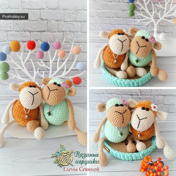 Милые вязаные овечки