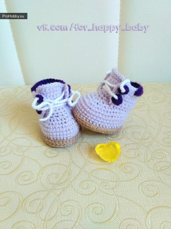 Вязаные ботиночки для кукол и игрушек
