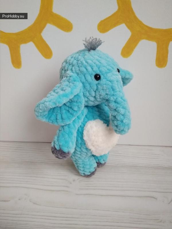 Мини-слоник крючком