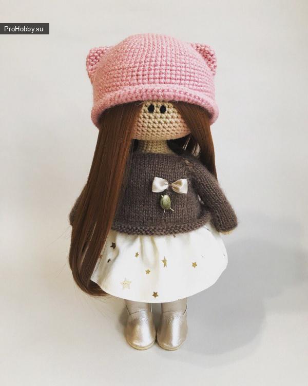 Шапка «Кошечка» для куклы