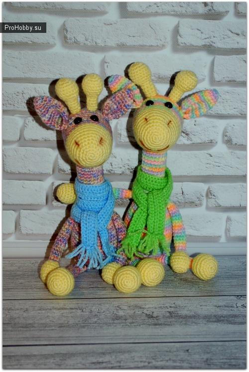 Радужные жирафики крючком